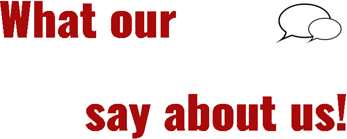 What our customers say about us
